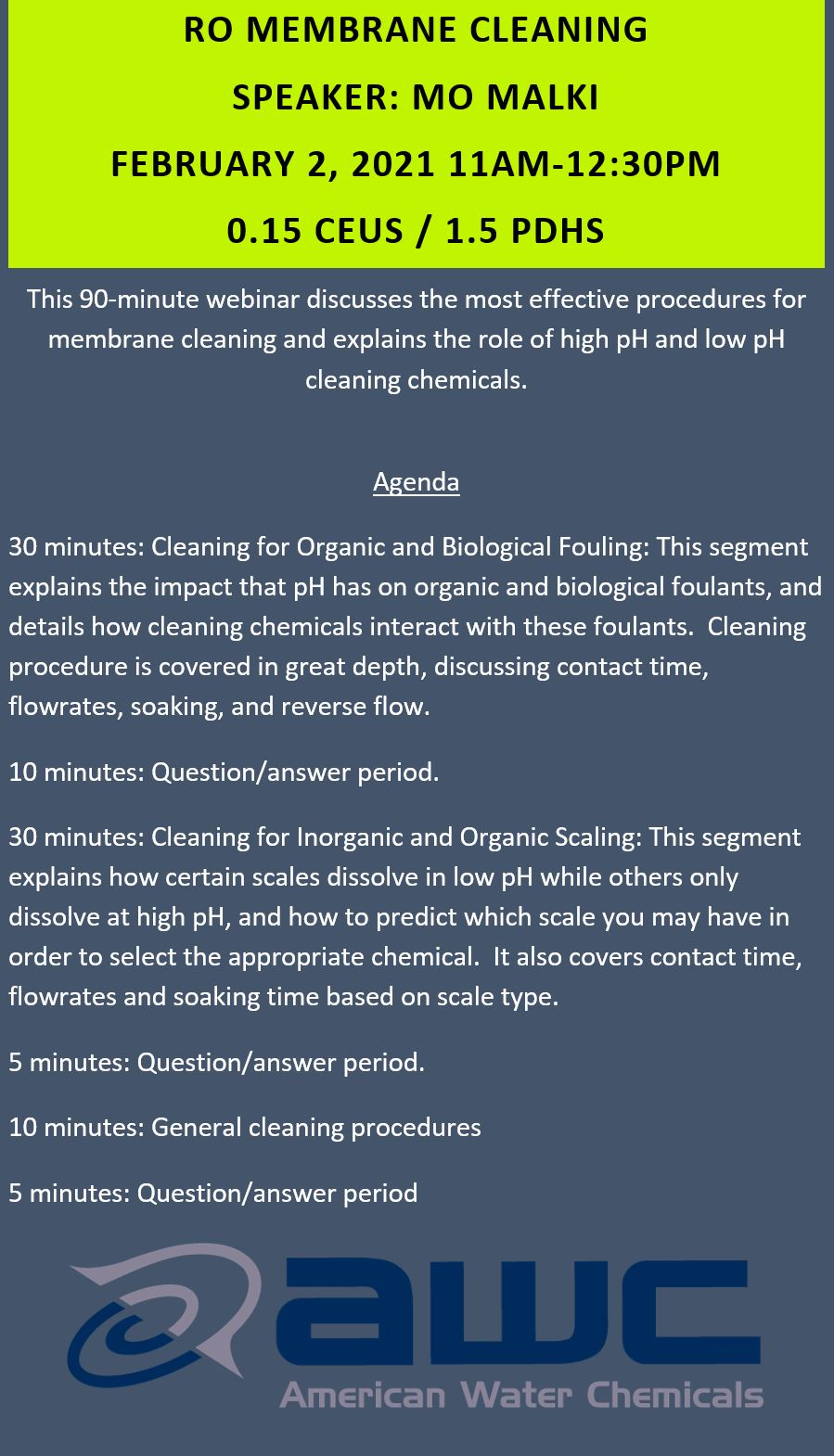 RO Membrane Cleaning
