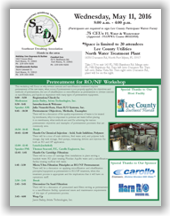 SEDA Pretreatment for RO/NF Workshop - North Fort Myers, FL - May 11, 2016 @ Lee County Utilities North Water Treatment Plant | North Fort Myers | Florida | United States