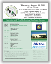 SEDA Operating and Troubleshooting Membrane Systems Workshop - Pompano Beach, FL - August 18, 2016 @ City of Pompano Beach WTP | Pompano Beach | Florida | United States